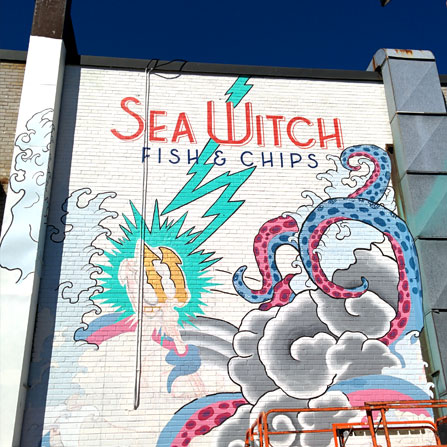 Alternate shot of Sea Witch Fish and Chips, Toronto, ON