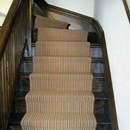Stairs showcasing the faux wood grain effect in Toronto, ON